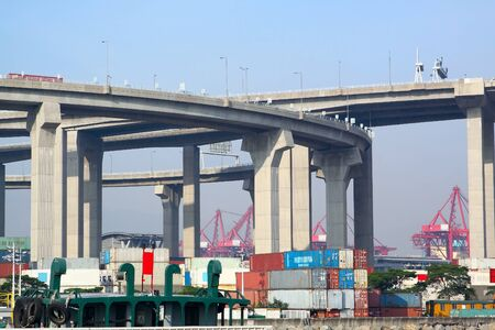 container terminal under flyover