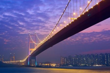 ma: bridge in sunset , under view
