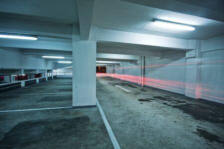 parking lot interior: Parking garage  Editorial