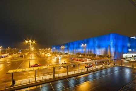 industry park: car park at night
