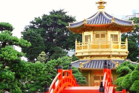 Pavilion of Absolute Perfection in the Nan Lian Garden, Hong Kong.  photo