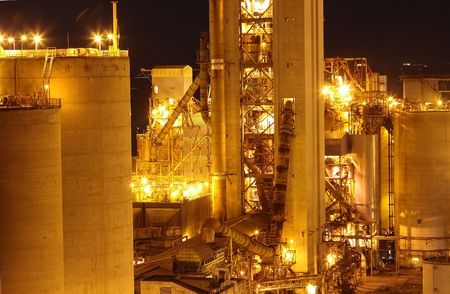 Cement Plant close up Stock Photo - 12735052