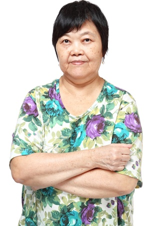 asian woman on white background  photo