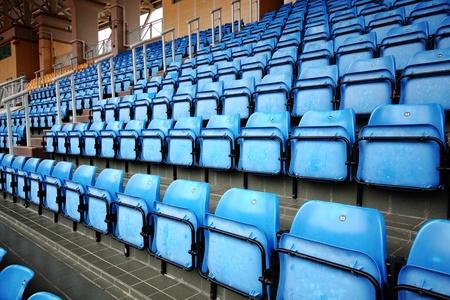 gradas estadio: Asientos azules en el Estadio