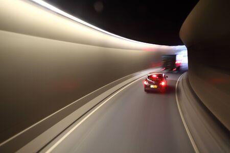 urban planning: urban tunnel and traffic light