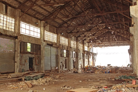 abandoned factory: Abandoned Industrial Furnace