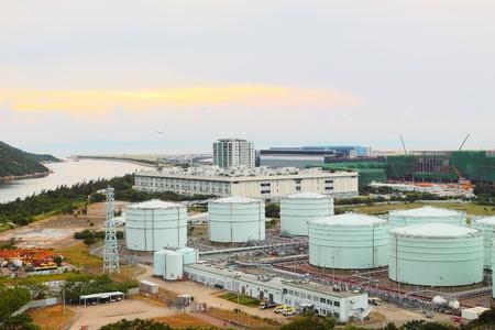propylene: gas tank at day