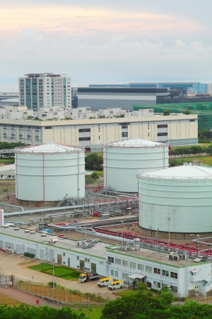 oil tank at day photo