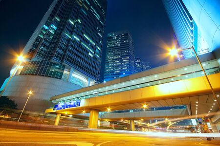 downtown city night photo