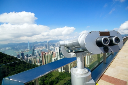 View point with telescope near hongkong,china Stock Photo - 14331028