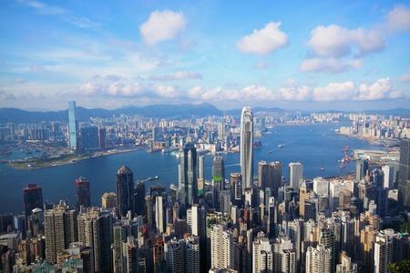 빅토리아 피크에서 홍콩의 스카이 라인