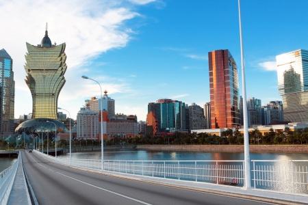 lange Brücke in Macao