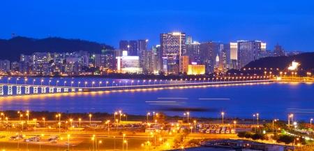 macau: Macau cityscape of bridge and skyscraper Macao, Asia.