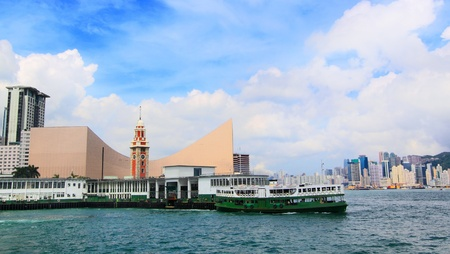 Hong Kong harbour at day photo