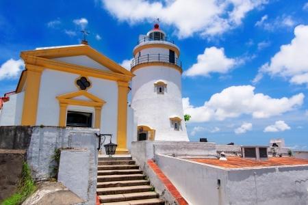 기아 등대, 요새와 성당, 마카오. 스톡 콘텐츠