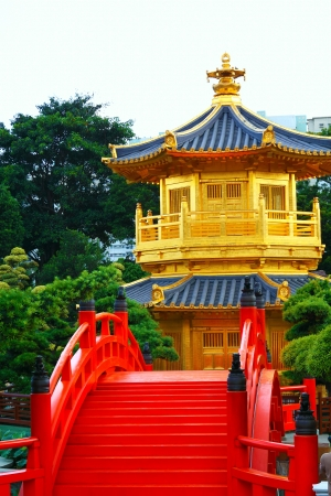 Pavilion of Absolute Perfection in the Nan Lian Garden, Hong Kong   Stock Photo - 16299864