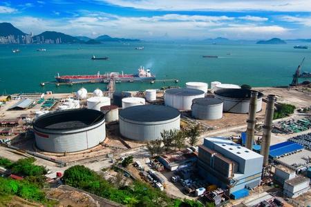 storage tank: oil tank in power station