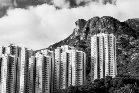 hk: Hong Kong Housing landscape under Lion Rock