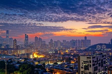 City midtown skyline at dark  photo
