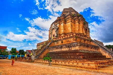 chiang mai: chedi luang temple in chiang mai  Stock Photo