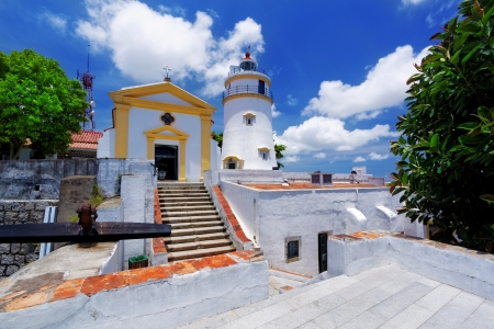 world heritage site: macau famous landmark, lighthouse Stock Photo