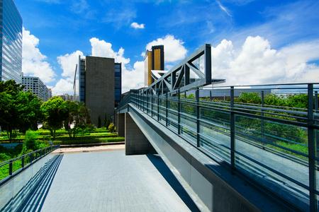 pedestrian walkway: Pedestrian Footbridge