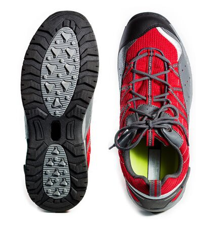 rubber sole: Tough hiking shoes and sole