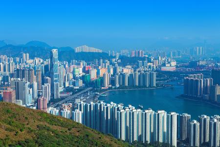 wan: View of Downtown Kowloon Hongkong from Tsuen Wan