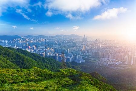 산에 홍콩 일출