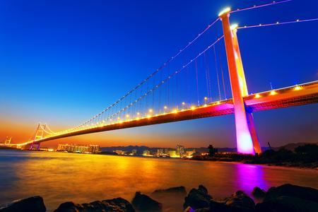 ma: Sunset at Tsing Ma Bridge