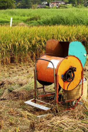 Vintage rice wood machine  photo
