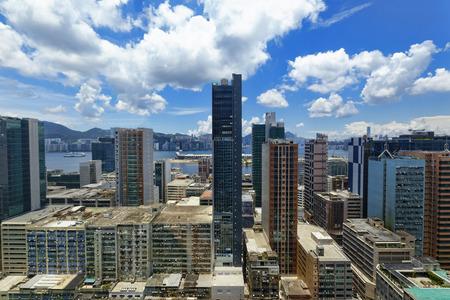 office buildings at day, hongkong kwun tong  photo