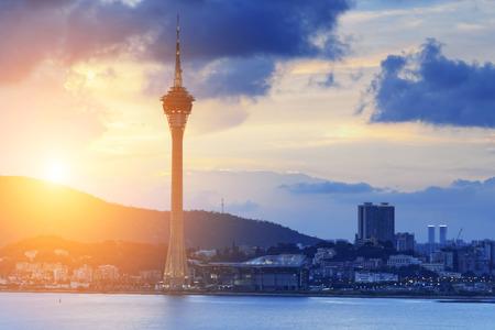 taipei: Macau sunset