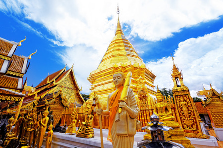 Wat Phra That Doi Suthep is a major tourist destination of Chiang Mai, Thailand. Stock Photo - 26431101