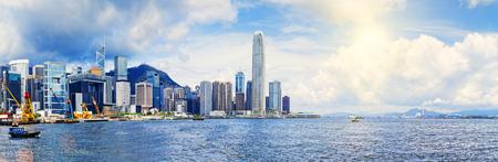Hong Kong harbour , Wan Chai Waterfront Promenade