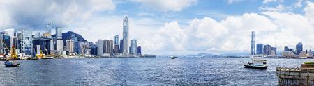 wan: Hong Kong harbour , Wan Chai Waterfront Promenade
