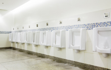 pedestal sink: interior of private restroom , toilet