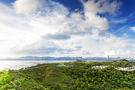 lantau: HongKong country sunset; Tin Shui Wai
