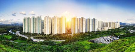 Public Estate in Hong Kong at day