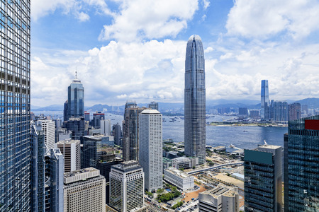 홍콩 금융 지구의 현대 건물