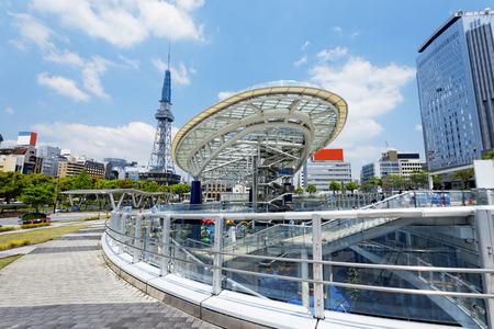 chubu: Nagoya, Japan city skyline with Nagoya Tower.  Editorial