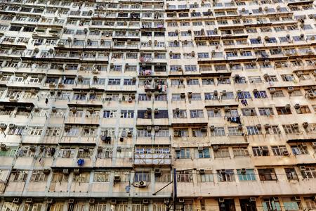 run down: Old apartments in Hong Kong.