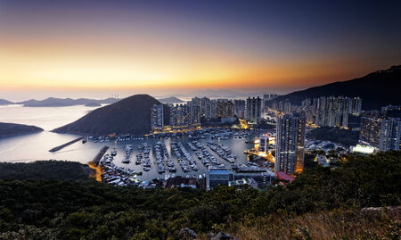 typhoon: Typhoon Shelters in hong kong aberdeen Stock Photo