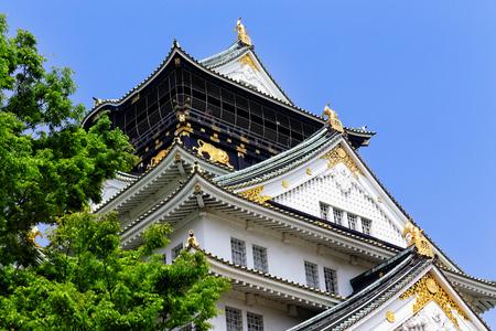 osakajo: Osaka Castle in japan , beautiful landmark building Editorial