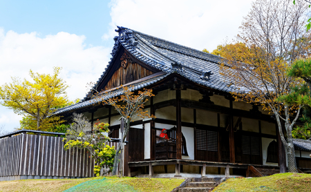ryokan: traditional wooden house, Japan at day