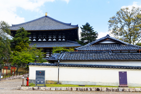ryokan: traditional wooden house, Japan at day