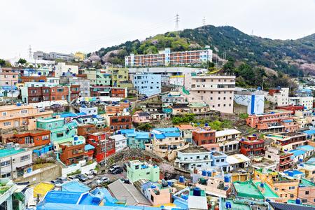 south asians: Gamcheon Culture Village, Busan, South Korea.