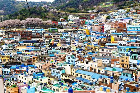 Gamcheon Culture Village, Busan, Südkorea. Lizenzfreie Bilder