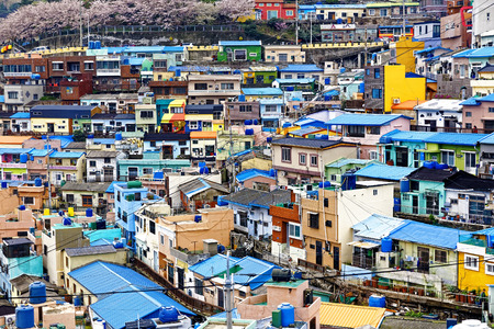 감천 문화 마을, 부산, 한국. 스톡 콘텐츠 - 40321339