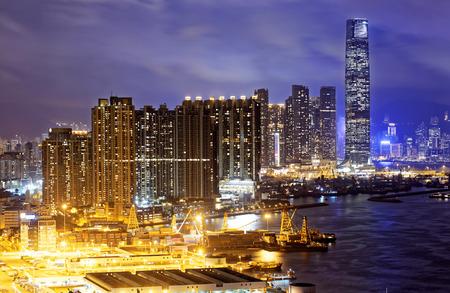 skylines: Hong Kong skylines at night